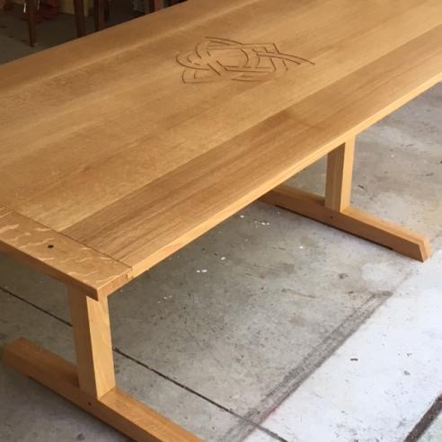 trestle table finished