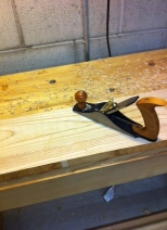 Dimensioning ash wood by hand